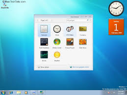 gadget de bureau windows 8 configure desktop gadgets in windows 7 windows 7