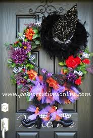 witch boot halloween decorations 210 best halloween mesh wreaths images on pinterest holiday