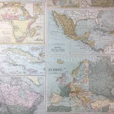 Vintage World Map by Holden Decor Vintage Maps Feature Wallpaper