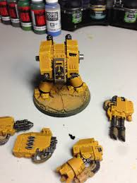 painting guide imperial fist dreadnought centerpiece miniatures
