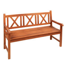 Teak Wood Patio Furniture Brittney Teak Wood X Back Outdoor Bench Christmas Tree Shops