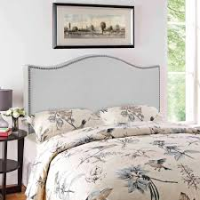 Curved Upholstered Headboard by Modway Curl Queen Nailhead Upholstered Headboard Multiple Colors