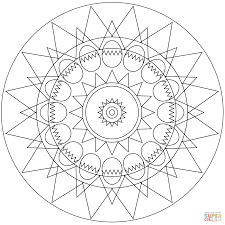 easter mandala with and egg coloring page free printable