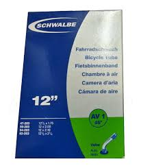 chambre a air 12 schwalbe av1 45 degree schrader 12 bike inner 47 203