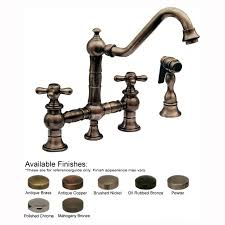 bronze bridge kitchen faucet exceptional with side spray moen