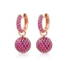 baby hoop earrings baby hoop earrings with ruby spheres pinner