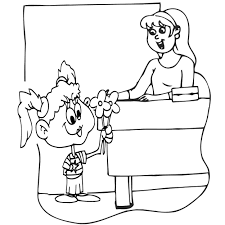 teachers day coloring pages for kids