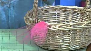 Make A Laundry Hamper by How To Make A Tutu Easter Basket Youtube