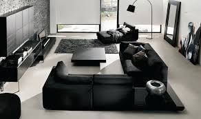 black livingroom furniture black is the white sophisticating your room without spooking