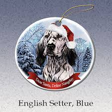 amazon com german shepherd dog santa hat christmas ornament