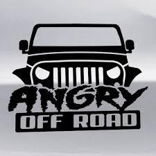 jeep silhouette купить виниловую наклейку angry off road jeep на авто стекло