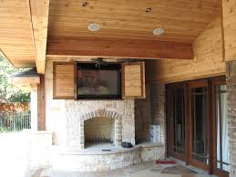 decoration vintage mounting a tv over a fireplace for your