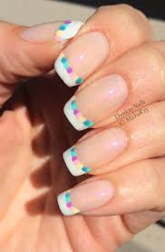 ehmkay nails easter egg french manicure
