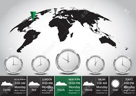 World Time Zones Map World Map And Time Zone Vector Illustration Royalty Free Cliparts