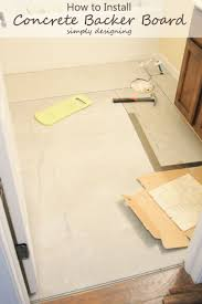 How To Install Concrete Backer Board Tile Installation Part - Bathroom tile work 2