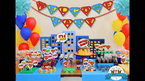 marvel baby shower party themed decorating ideas