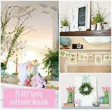 Easter Decorating Ideas For Mantels 33 best easter fireplace decor images on pinterest easter decor