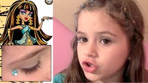 Halloween Monster High Makeup by Monster High Makeup Scary Cute Beauty Set Tutorial For Kids Youtube