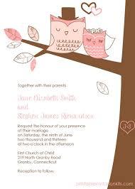 Printable Wedding Invitations Owl Wedding Invitation Free Printable Wedding Invitations
