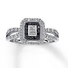 kays black engagement rings black ring princess cut 10k white gold