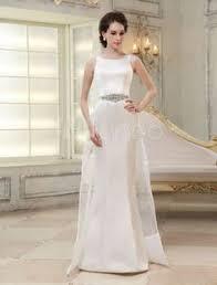 milanoo robe de mari e robe de mariée gracieuse fourreau en dentelle blanc avec perles