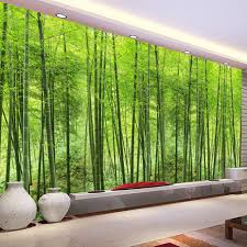 nature landscape green bamboo forest photo mural customized size