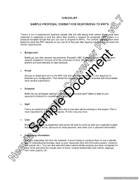 checklist sample format for responding to rfp u2013 lawyer com au