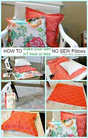 Make Cushions For Patio Furniture Best 25 No Sew Cushions Ideas On Pinterest Easy No Sew Pillow