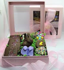 easter gifts for easter gifts for gourmet chocolate dressed in pink