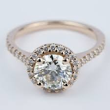 color diamond rings images Diamond engagement ring in rose gold with m color diamond jpg