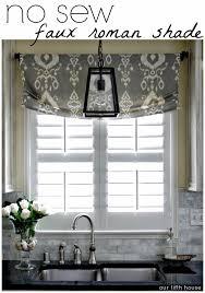 home decor window treatments diy no sew faux roman shade our fifth house faux roman shades