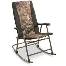 guide gear oversized rocking camp chair 500 lb capacity mossy