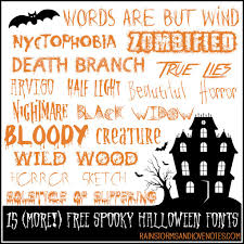 15 more free halloween fonts rainstorms and love notes