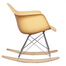 ray eames style rar rocking chair cream