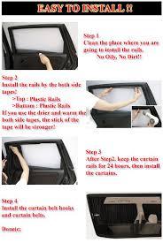 2pc 70cmx47cm beige vip mesh interlock car window curtain for