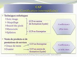 coefficient bac pro cuisine bac professionnel esthetique cosmetique parfumerie ppt