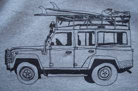 jeep grey blue surf truck pullover hoodie grey paulville goods