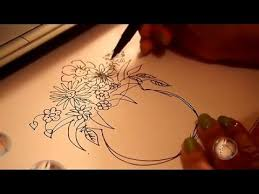 Vase Of Flowers Drawing Vase Of Flower Drawing And Coloring Youtube