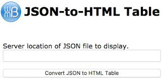 convert json to html table json into html table