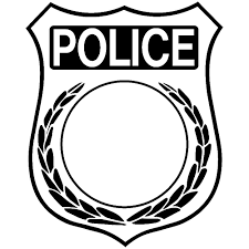 police badge outline coloring with images of 14 10115 throughout