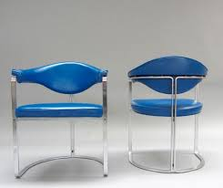 Blue Leather Chair Blue Leather Chairs By Horst Brüning For Kill International Set