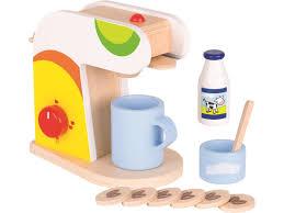 kinderküche zubehör goki kaffeemaschine für die kinderküche mit zubehör lindenholz