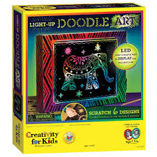amazon com creativity for kids light up doodle art kit toys u0026 games