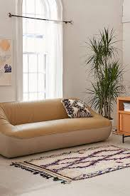 Brown Leather Sofa Bed Leia Mixed Leather Sofa Urban Outfitters