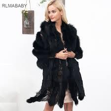 online get cheap faux fur shawl white black aliexpress com