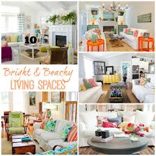livinf spaces housie inspiration bright beachy living spaces the happy housie