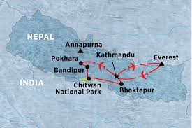 Nepal Map World by Colours Of Nepal Nepal Tours Peregrine Adventures