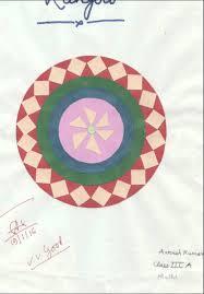 rangoli patterns using mathematical shapes rangoli made with geometrical shapes craft papers aarush kumar
