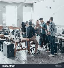 working one team full length young stock photo 583598911