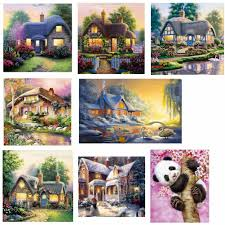 online buy wholesale cabin lake painting from china cabin lake